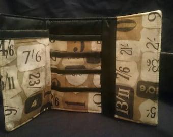 Three fold handmade cotton purse wallet
