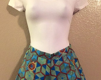 African Wax Print Shorts