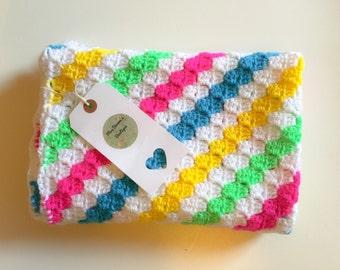 SALE Baby Blanket , Crochet Baby Blanket , Baby Girl Blanket , Baby Boy Blanket