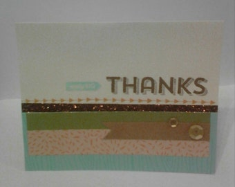 Really Big Thanks!! Blank note card