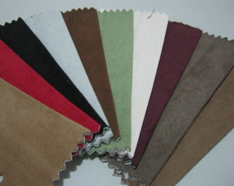 Scrap Microfiber Fabric for Crafts/ 10pcs / 14 cm x 10 cm (MF02)