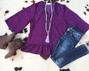 Purple Haze Blouse (Sale!)