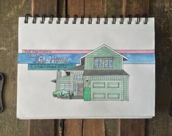 Whimsical, Custom Home Drawings