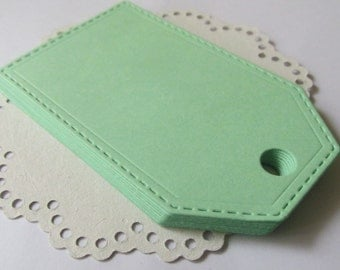 20 Large Mint Green Paper Tags / Mint Wedding Tags/ Gift Tags/ Blank Tags/Wedding Favor Tags/ Mint Baby Shower Favor/ Bridal Shower Tags