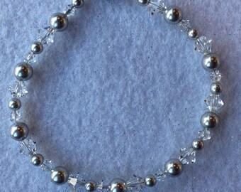 Swarovski Pearl and Bicone Bracelet