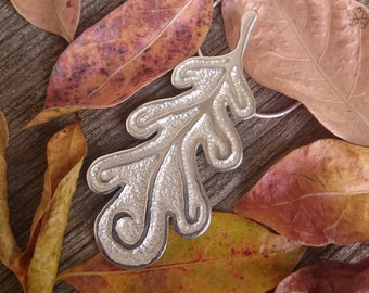 Sterling Silver Leaf Necklace | Silver Oak Leaf Necklace | Autumn Leaves | Woodland Leaf Pendant | Nature Inspired Jewelry | Fall Jewelry