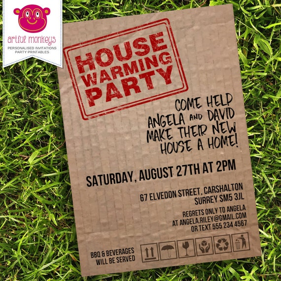 Satisfactory image within printable housewarming invitation