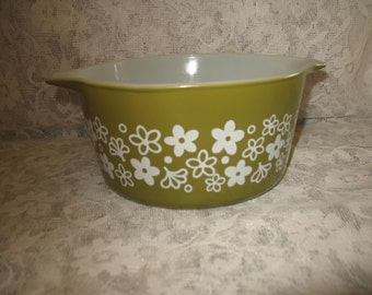 Pyrex spring blossom green (1 pint) #473.