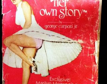 Vintage Marilyn Monroe Book Magazine 1976 Red Playboy