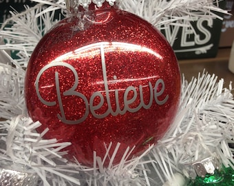 Holiday Christmas Tree Ornament Believe