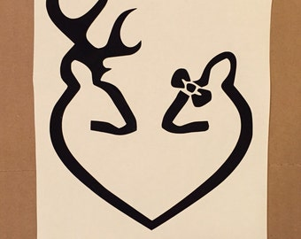 Browning Heart With Bow
