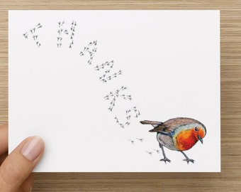 Tiny Robin Thank You Card- 5 Pack