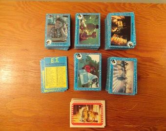 Large Lot Of 1982 ET Extra Terrestrial Trading Cards