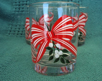 Vintage Holiday Old-Fashioned Glasses