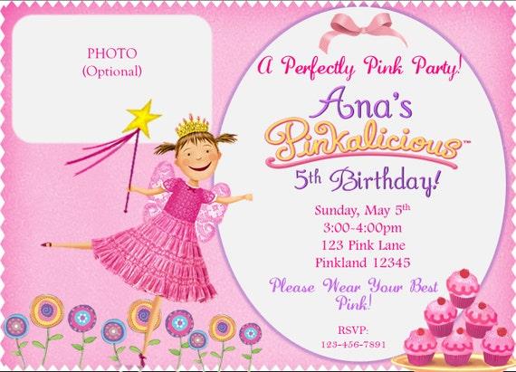 pinkalicious birthday invitation