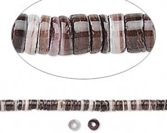"Shell Beads, Violet Oyster Shell, Shell Heishi Beads, Beach Beads, 2mm to 3mm, 16"" strand, D785"