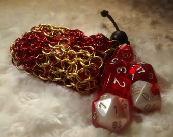 Gryffindor Chainmail Dice Bag