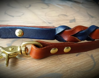 Closed reins with brass clips reins two-tone bridle bitles western riding