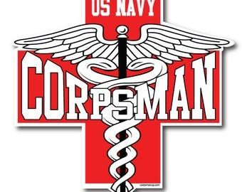 Navy Corpsman Red Cross sticker