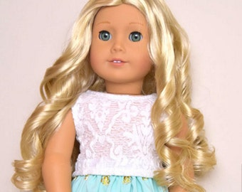 Lace top for 18 inch doll clothes American made doll clothes