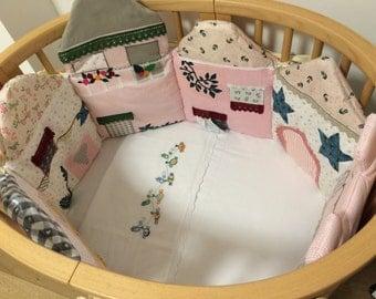Bumper crib sheds