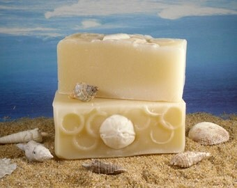 Suds in the Sea Coconut Oil Soap / Unscented Soap, Homemade Soap, Sensitive Skin Soap, Fragrance Free Soap, Face Soap, Palm Free Soap