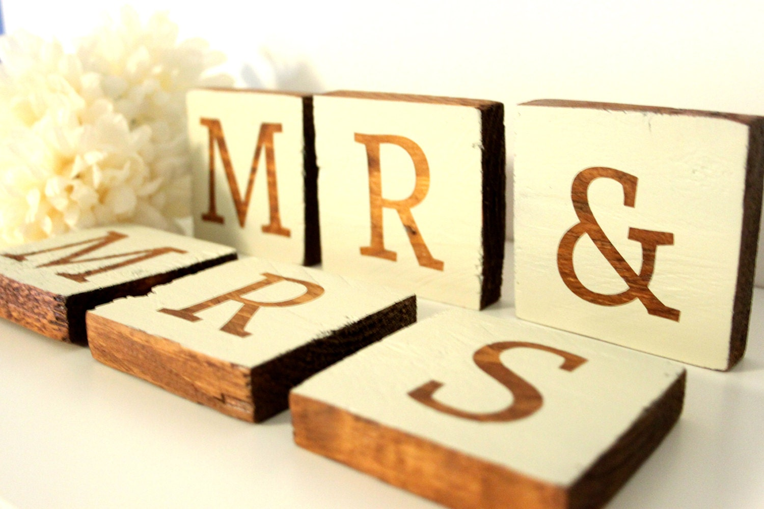 Wedding Decor Mr And Mrs Wooden Letters Rustic By TheLogPile