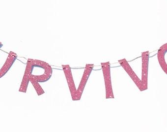 Survivor Banner   Survivor Garland  Illness Survivor Banner   Cancer Survivor Banner