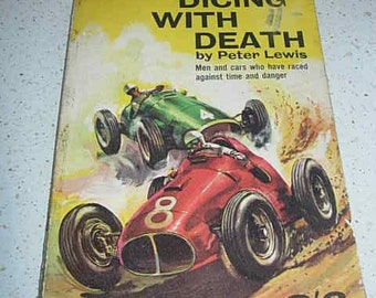 vintage 1st edition dicing with death, motoring book