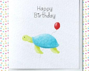 Cute Turtle Birthday Card