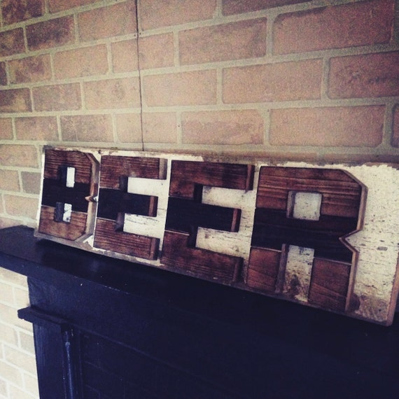 Large Wooden Signs Home Decor: Large Reclaimed Wood Beer Sign. Pallet Wood. By