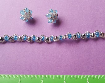 New Handmande Beaded Bracelet with earrings