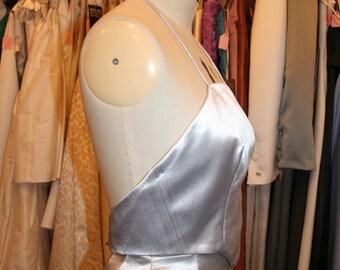 Silver Bridesmaid Dress 2-piece