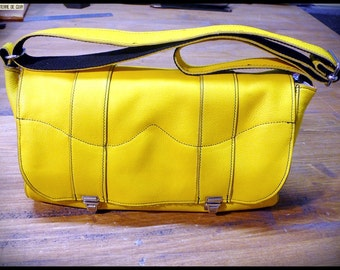 Small Leather Satchel Idily yellow