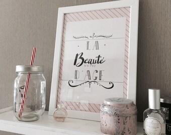 """Table """"beauty has no age"""""""