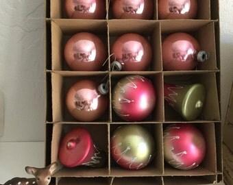 Vintage Glass Ornaments, vintage Christmas ornaments, Shiny Brite Otnament, Mixed Ornaments