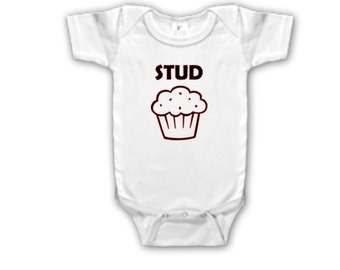 Stud Muffin Onesie Iron Logo