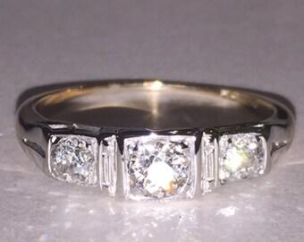 An Edwardian Three-Stone Diamond Ring with Austro-Hungarian hallmarks