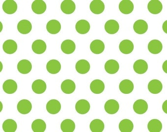 "Green Polka Dots Tissue Paper - 20"" X 30"" - 24 Sheet Count"