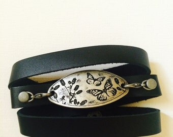 Butterfly Leather Wrap