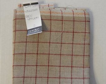 28ct. Newport Red/Natural Linen from Norden Crafts