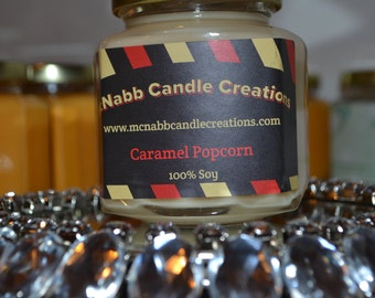 Caramel Popcorn large candle jar