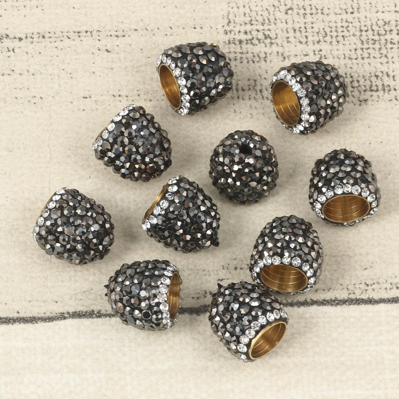 Crystal Bead Beads: Mini 5pcs Beads Cap Wholesale Black Crystal Bead Cap Jewelry