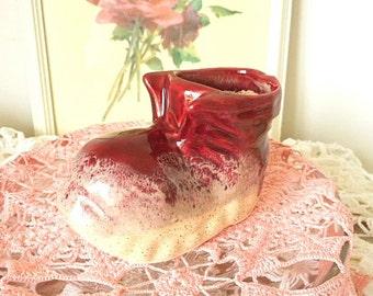 Vintage Ceramic Shoe Planter ~ Flower Bud Vase