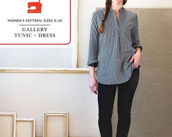 The Gallery Tunic & Dress - Liesl + Co Sewing Patterns - paper pattern - tunic pattern - dress pattern
