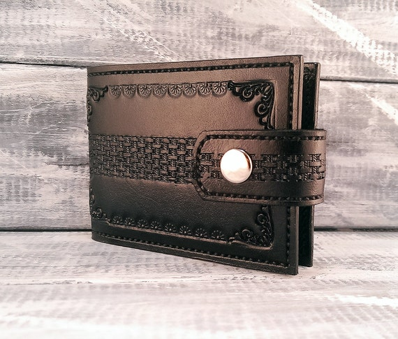 Credit card holder for men leather business card by
