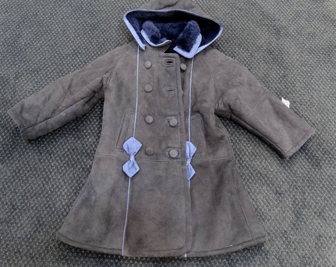 Real Mouton Jacket For Babies,Back to School Winter Jacket F216