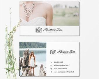 Business Card Template - Photographer Business Card - Photoshop Templates BCARD007
