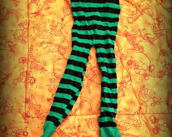 Baby Witch Tights - Baby's 1st Halloween - Witch Tights - Baby Witch - Green Witch Tights - Halloween Costume - Witch Costume - Baby Costume