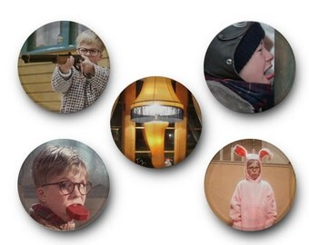 Christmas Story Magnets - Inspired by A Christmas Story, Ralphie, Christmas Movie, Christmas Present, Fragile, Santa Claus
